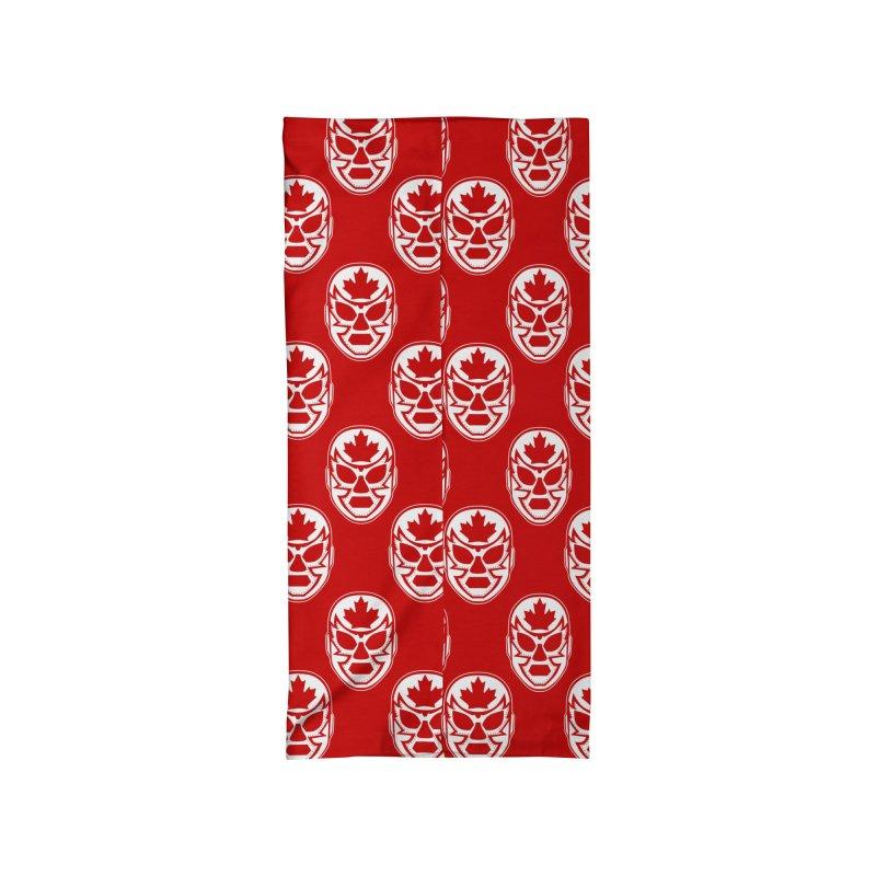 Luchanada Pattern (White) Accessories Neck Gaiter by James Zintel