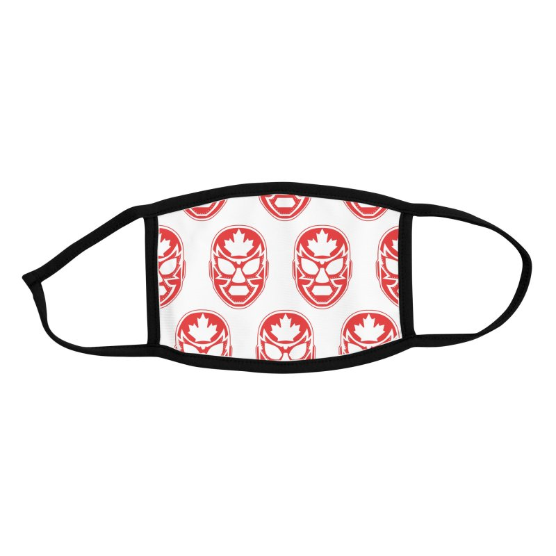 Luchanada Mask Pattern (Red) Accessories Face Mask by James Zintel
