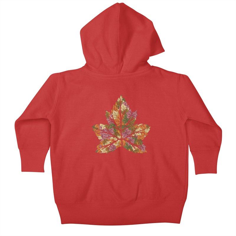 Autumn Leaves Kids Baby Zip-Up Hoody by James Zintel