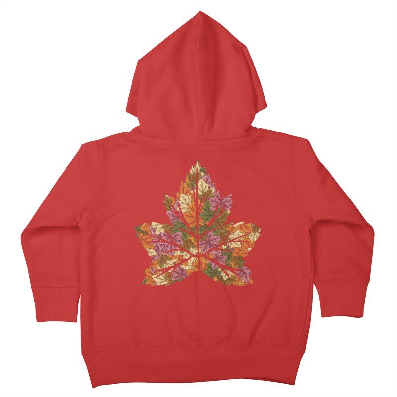 Autumn Leaves Kids Toddler Zip-Up Hoody by James Zintel
