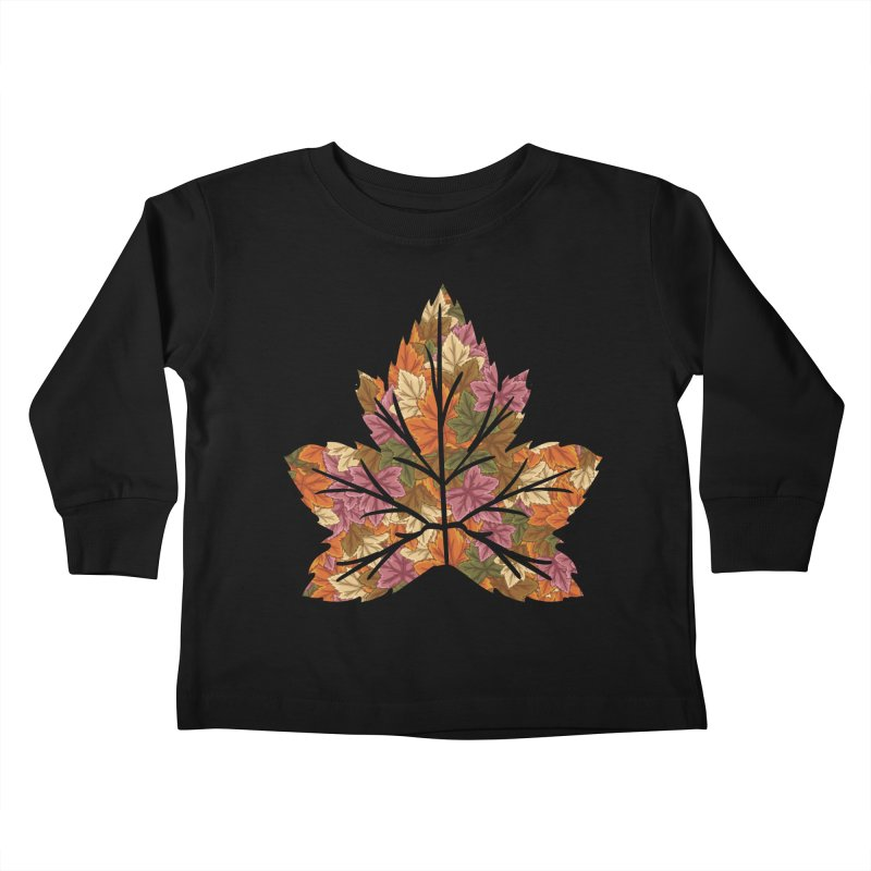 Autumn Leaves Kids Toddler Longsleeve T-Shirt by James Zintel