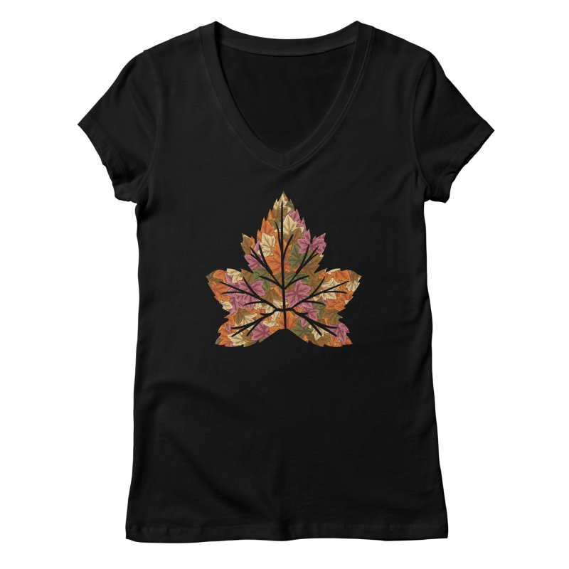 Autumn Leaves Women's V-Neck by James Zintel