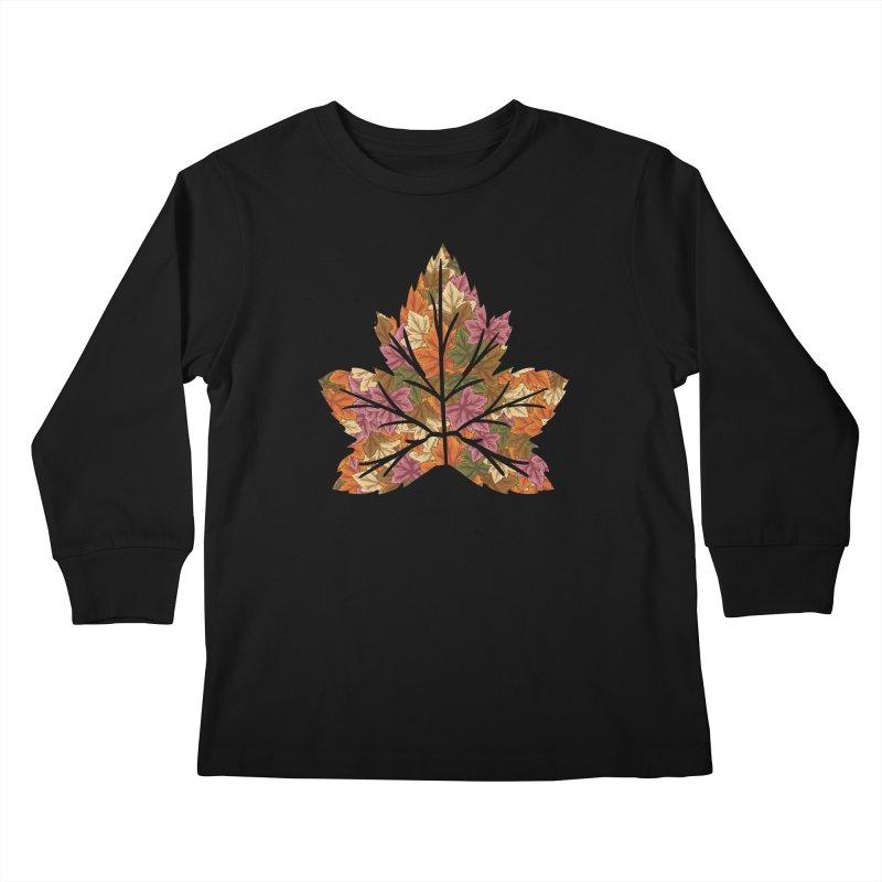 Autumn Leaves Kids Longsleeve T-Shirt by James Zintel