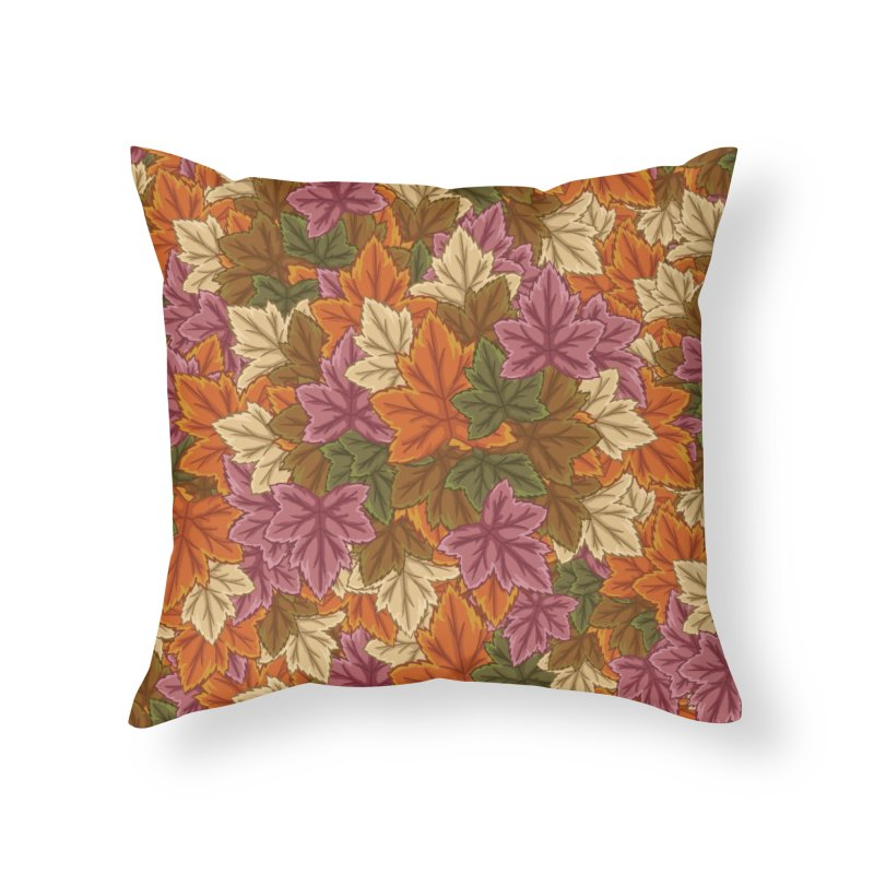 Autumn Leaves Home Throw Pillow by James Zintel
