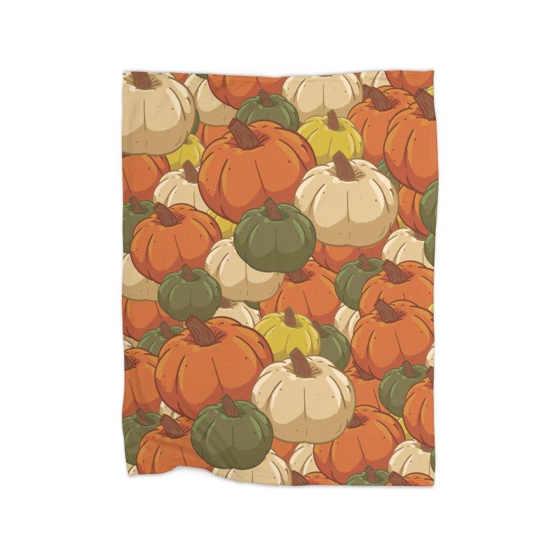 Pumpkin Pattern Home Blanket by James Zintel