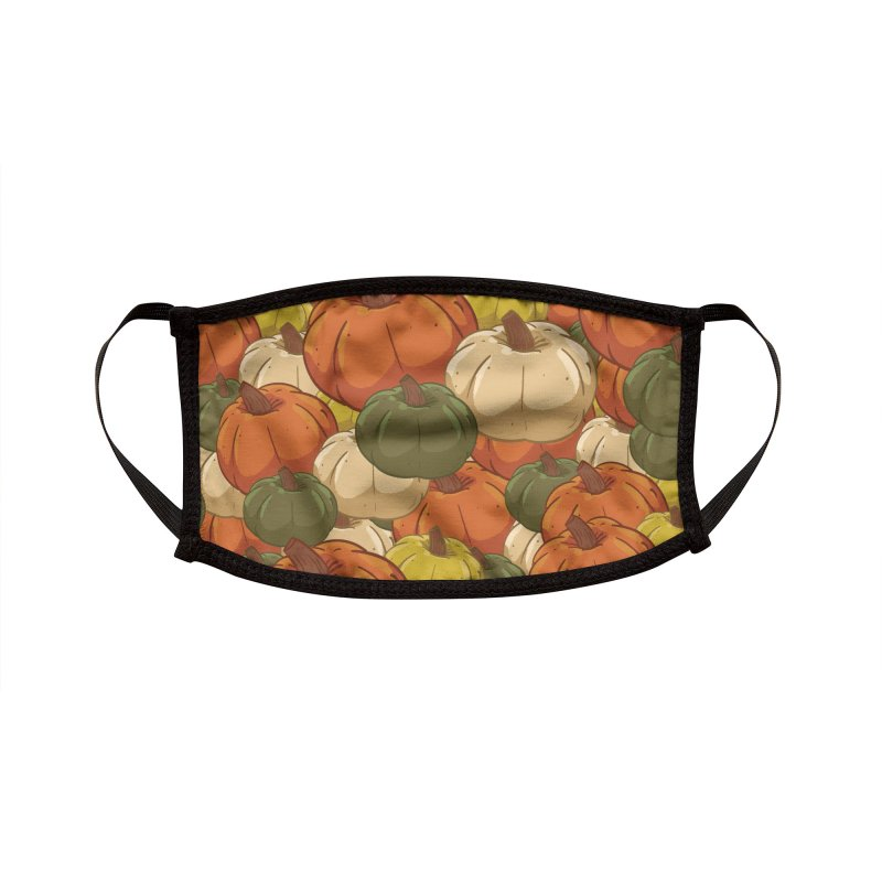 Pumpkin Pattern Accessories Face Mask by James Zintel