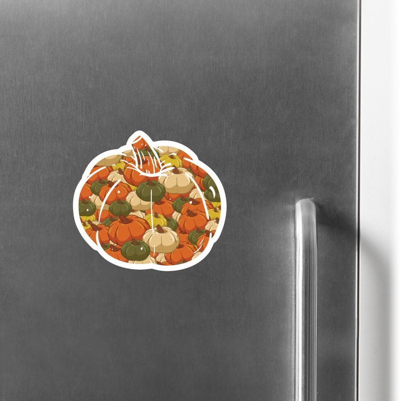 Pumpkin Pattern Accessories Magnet by James Zintel