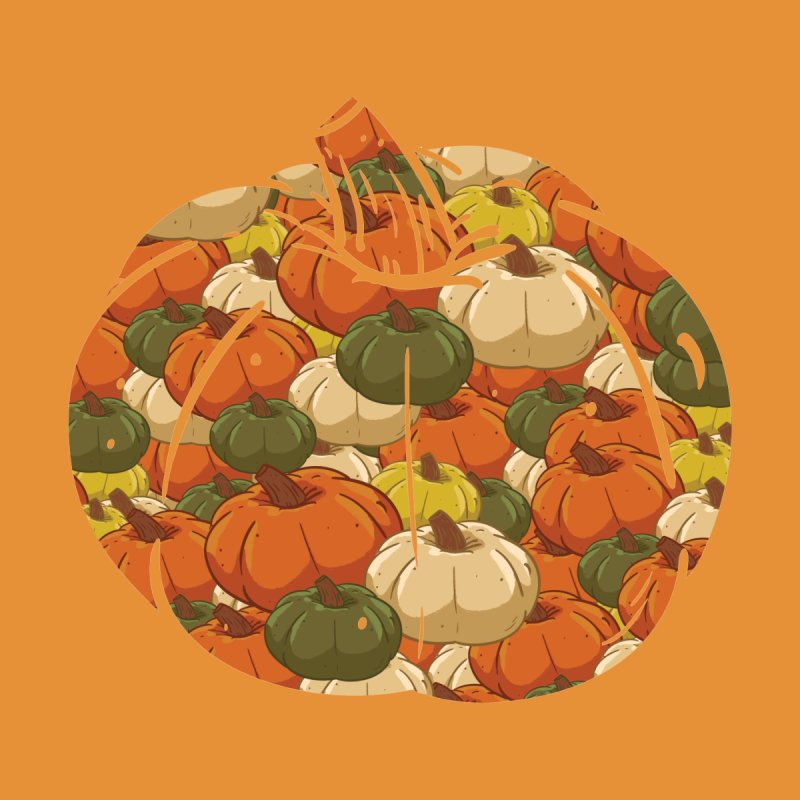 Pumpkin Pattern Women's T-Shirt by James Zintel