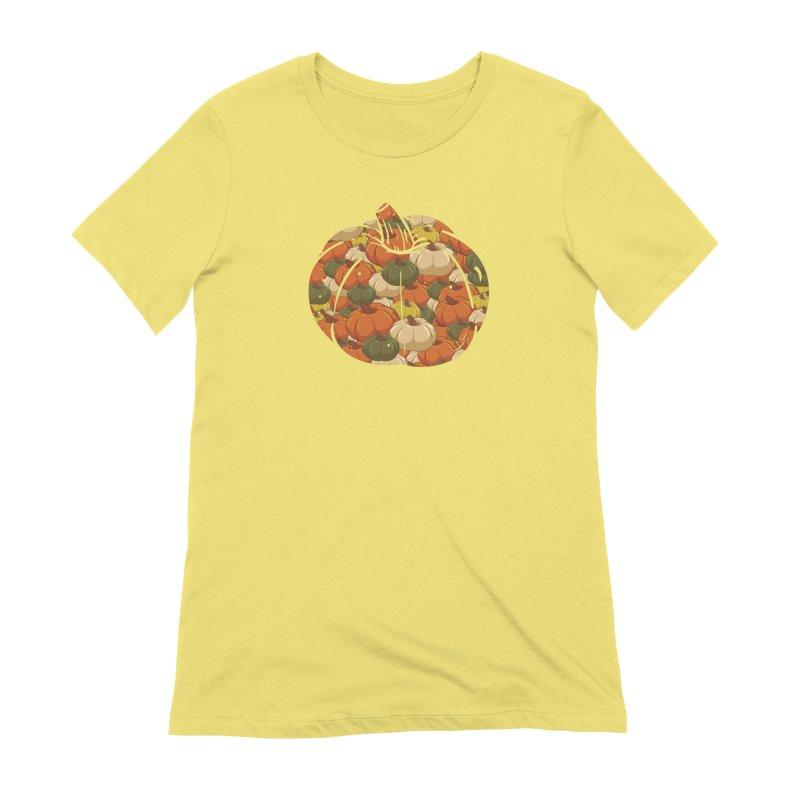 Pumpkin Pattern Women's T-Shirt by James Zintel
