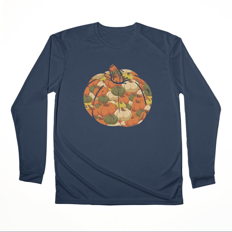 Pumpkin Pattern Men's Longsleeve T-Shirt by James Zintel