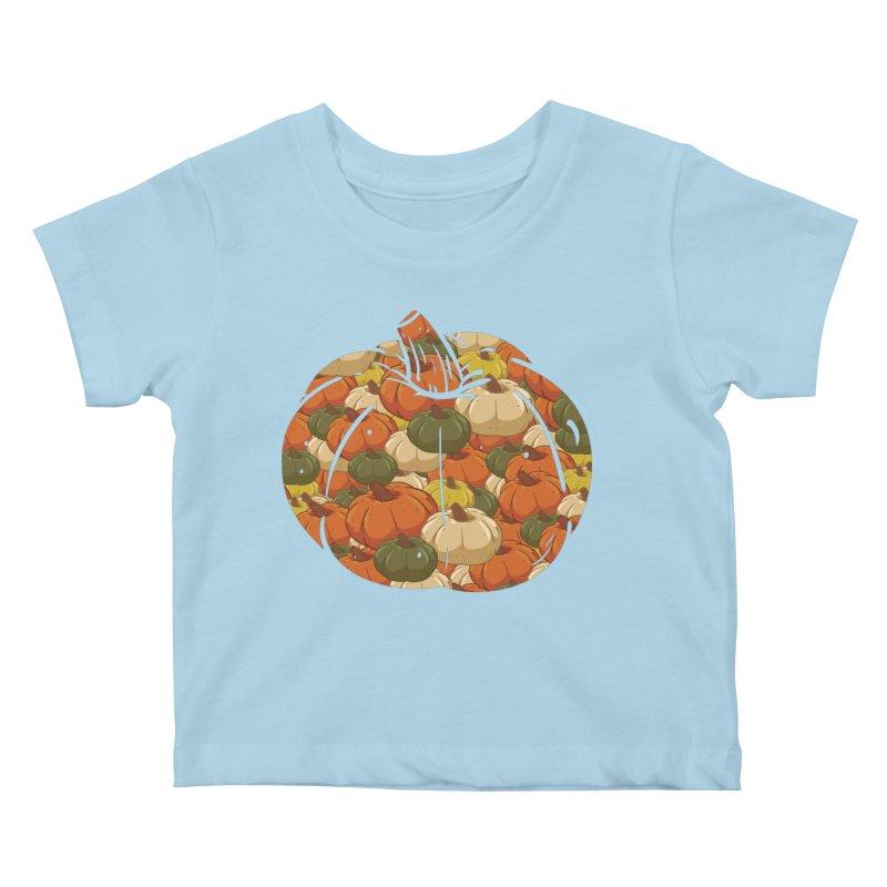 Pumpkin Pattern Kids Baby T-Shirt by James Zintel