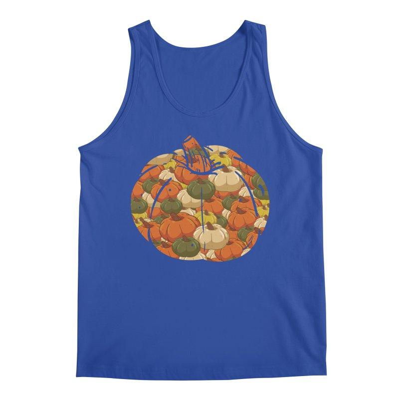 Pumpkin Pattern Men's Tank by James Zintel