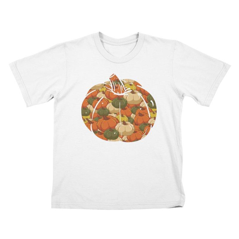 Pumpkin Pattern Kids T-Shirt by James Zintel