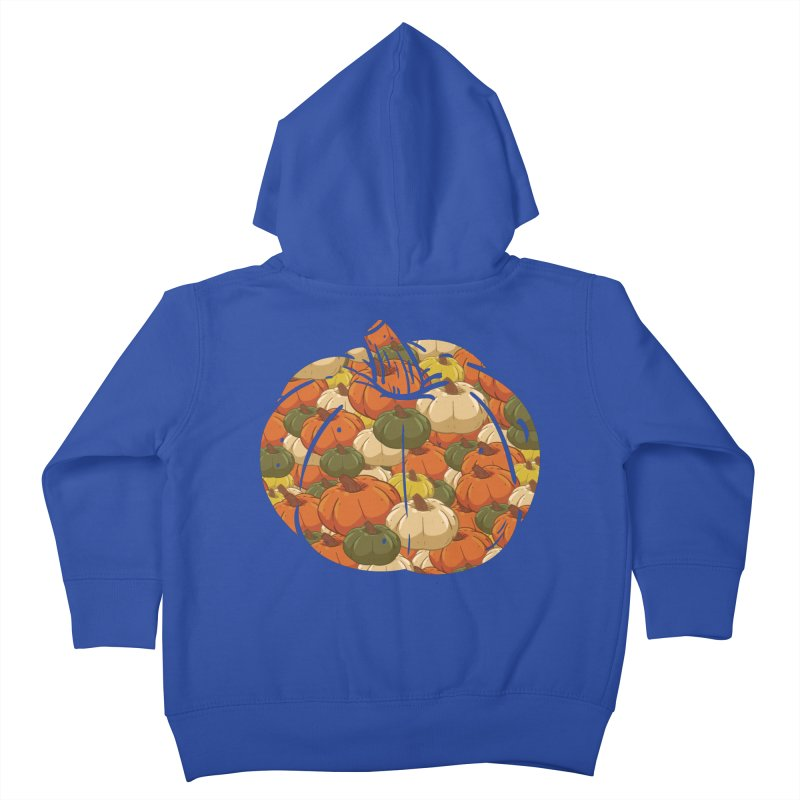 Pumpkin Pattern Kids Toddler Zip-Up Hoody by James Zintel