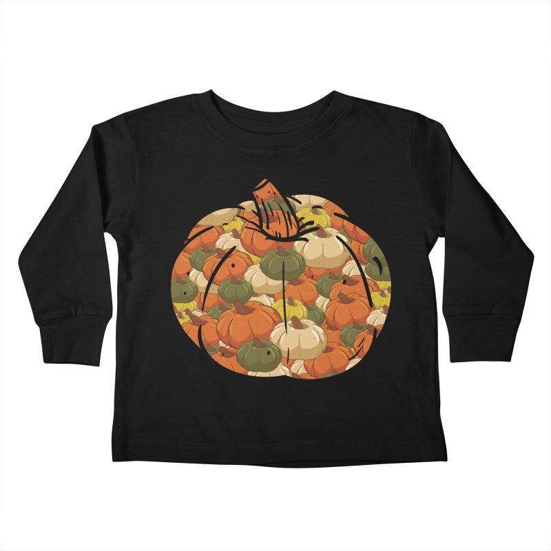 Pumpkin Pattern Kids Toddler Longsleeve T-Shirt by James Zintel