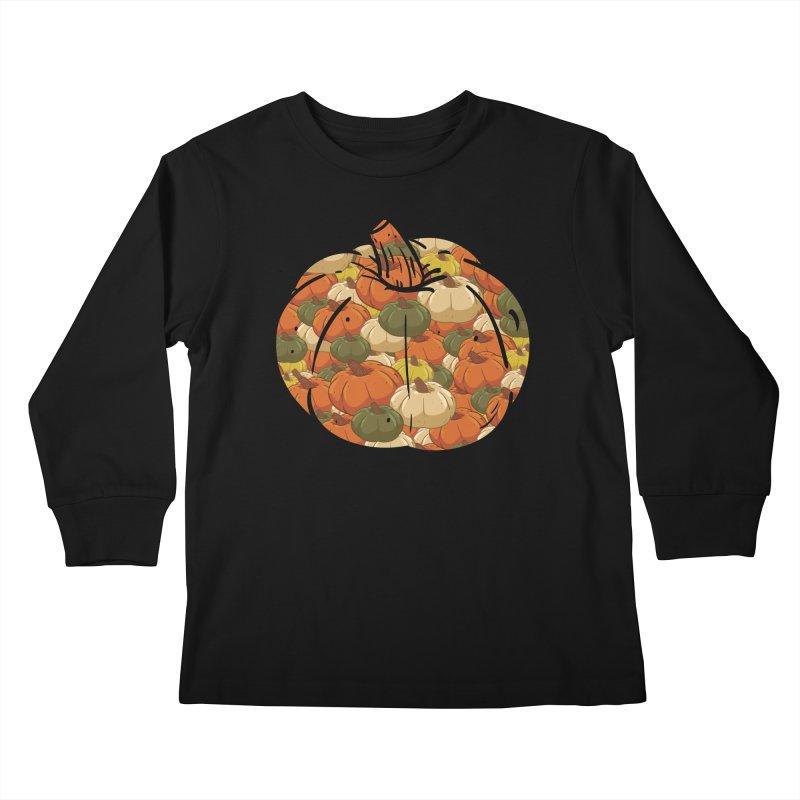 Pumpkin Pattern Kids Longsleeve T-Shirt by James Zintel