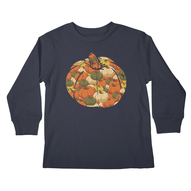 Pumpkin Pattern Kids Longsleeve T-Shirt by James Zintel