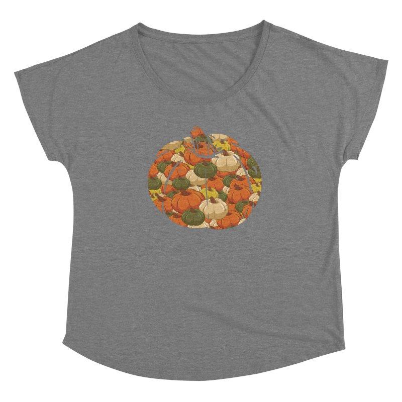 Pumpkin Pattern Women's Scoop Neck by James Zintel