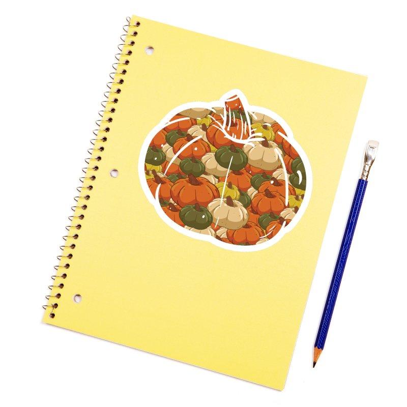 Pumpkin Pattern Accessories Sticker by James Zintel