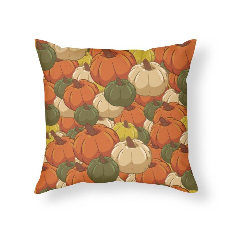Pumpkin Pattern Home Throw Pillow by James Zintel