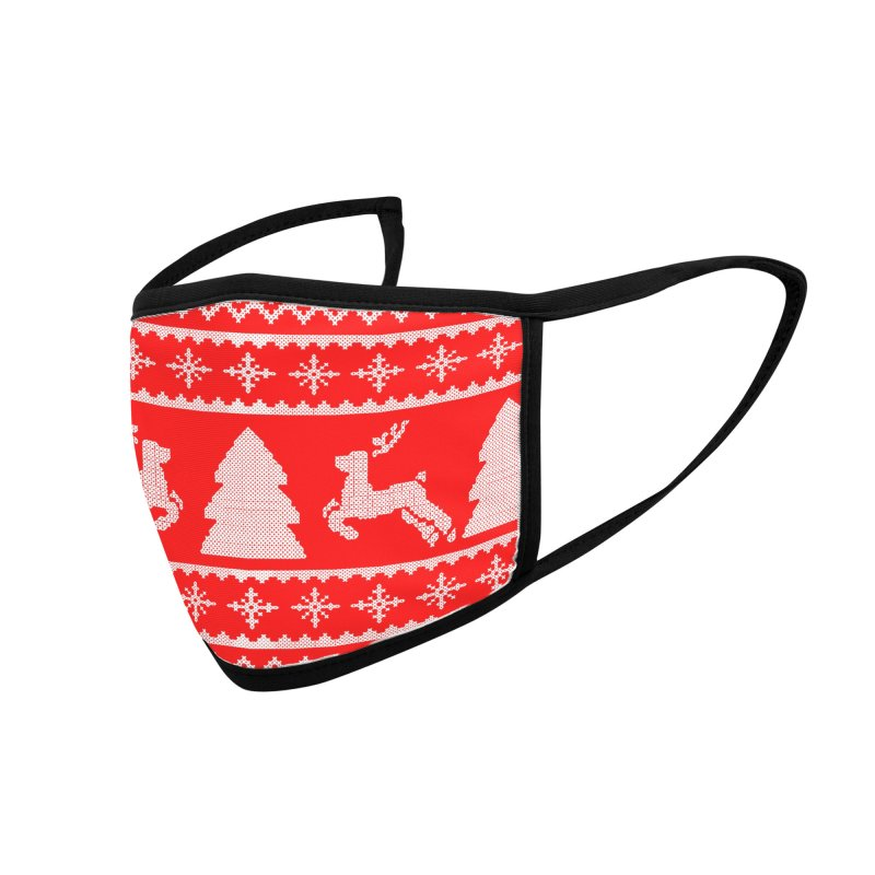 Christmas Sweater - Deers and Such Accessories Face Mask by James Zintel
