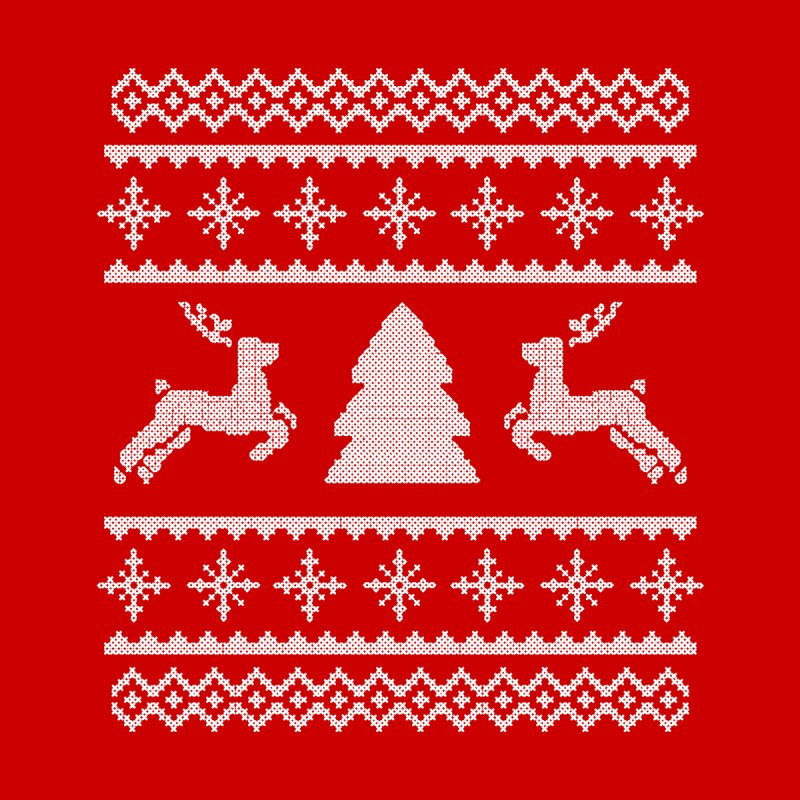 Christmas Sweater - Deers and Such Men's Longsleeve T-Shirt by James Zintel