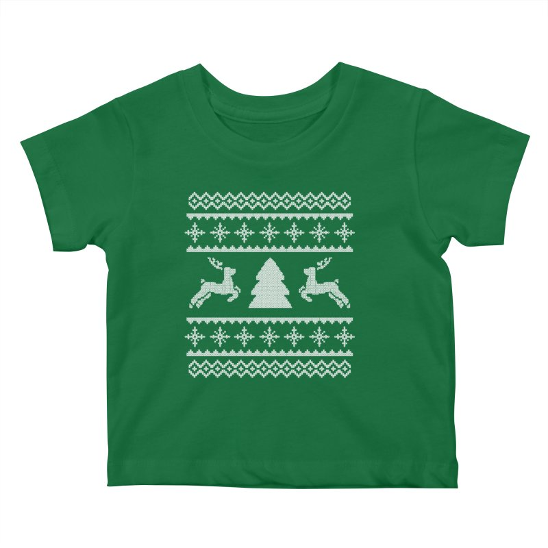 Christmas Sweater - Deers and Such Kids Baby T-Shirt by James Zintel