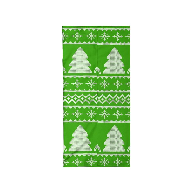 Christmas Sweater - Deers and Such (Green) Accessories Neck Gaiter by James Zintel