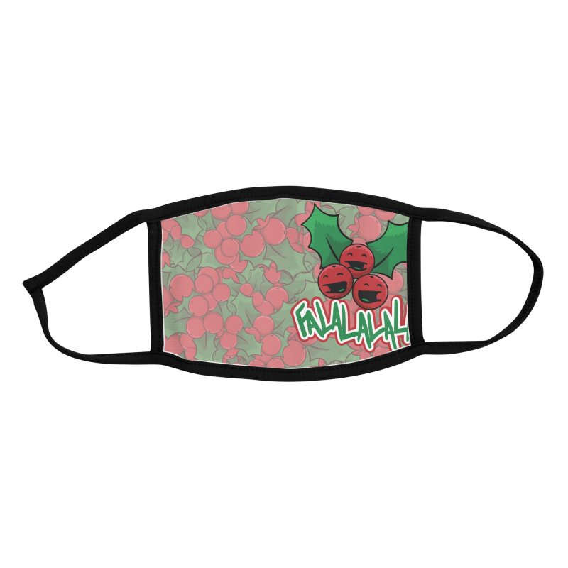 Holly Berries Accessories Face Mask by James Zintel