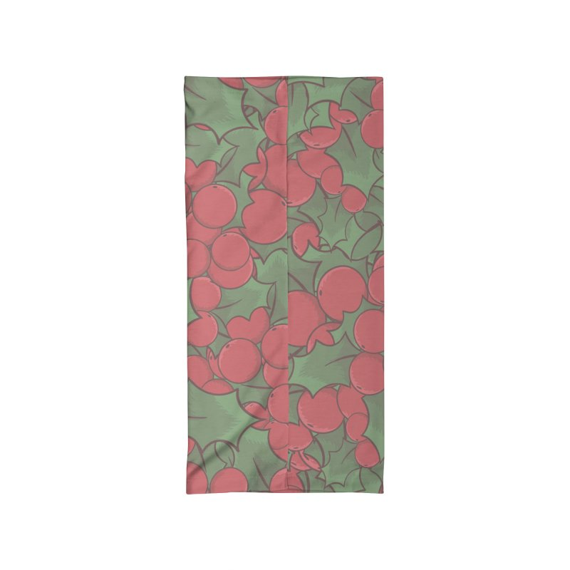 Holly Berries Accessories Neck Gaiter by James Zintel