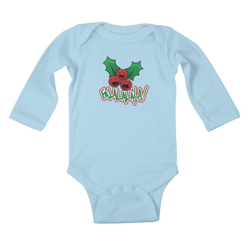 Holly Berries Kids Baby Longsleeve Bodysuit by James Zintel