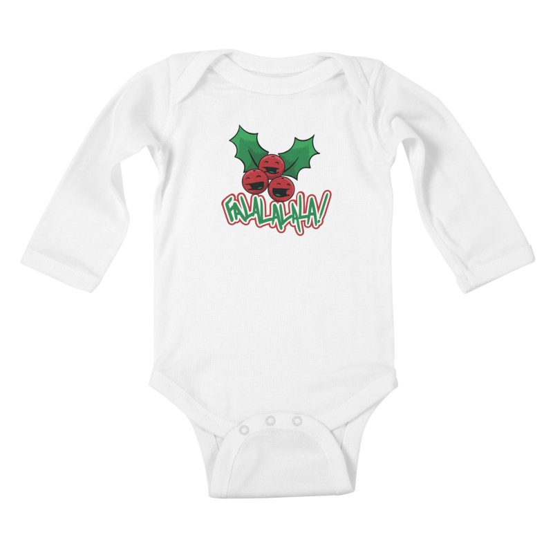 Holly Berries Kids Baby Longsleeve Bodysuit by James Zintel