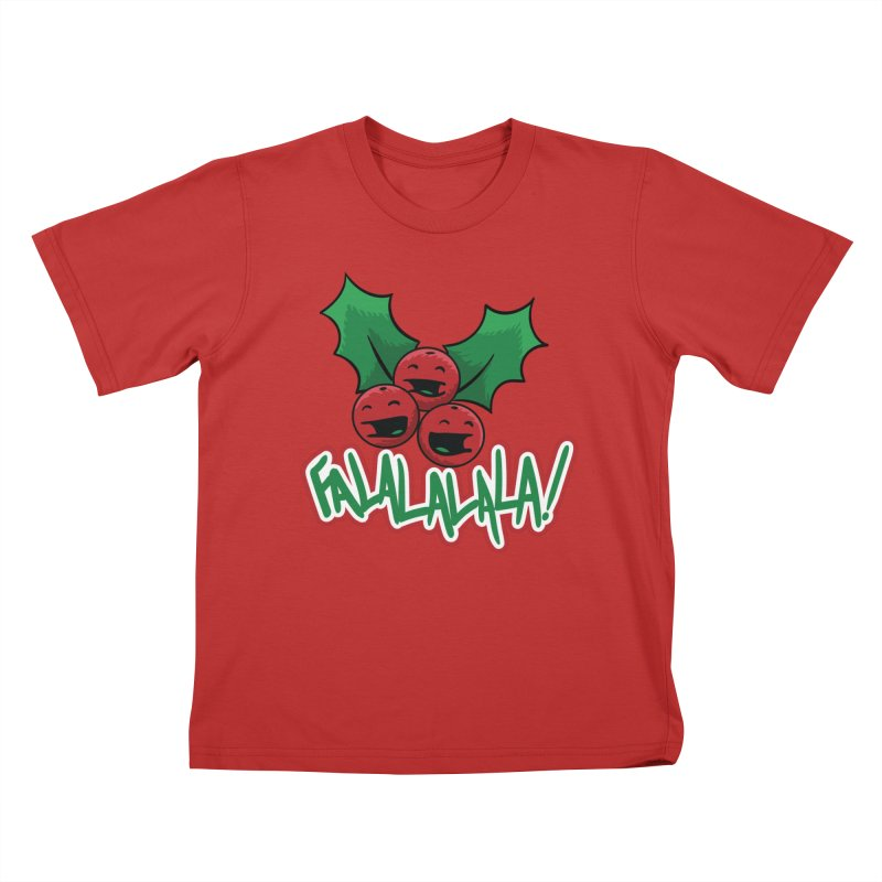 Holly Berries Kids T-Shirt by James Zintel