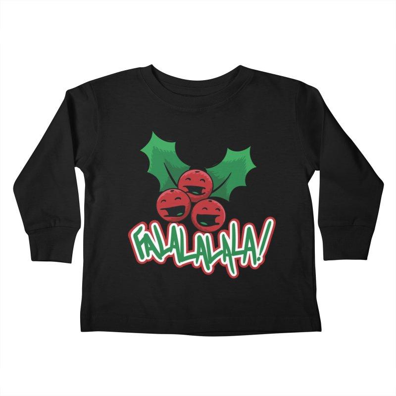Holly Berries Kids Toddler Longsleeve T-Shirt by James Zintel