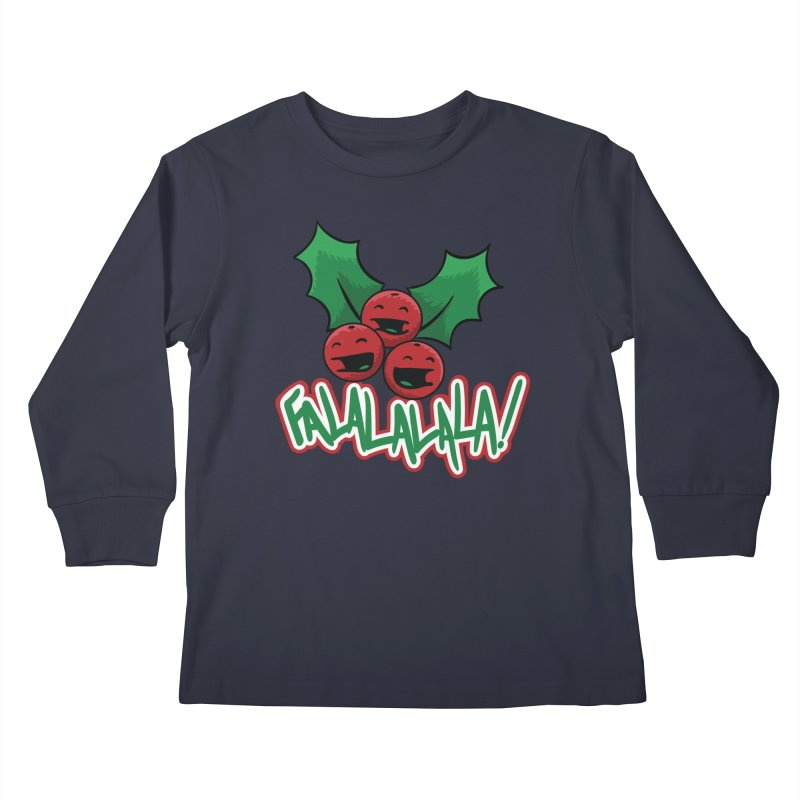 Holly Berries Kids Longsleeve T-Shirt by James Zintel