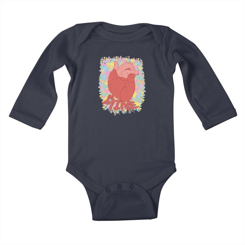 Be Mine Kids Baby Longsleeve Bodysuit by James Zintel