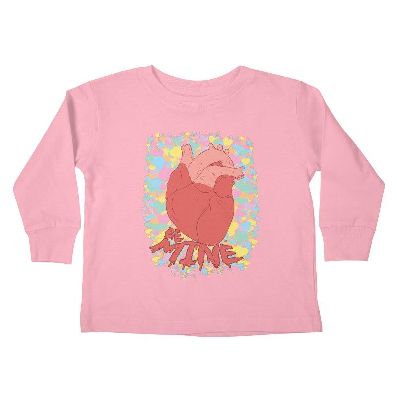 Be Mine Kids Toddler Longsleeve T-Shirt by James Zintel