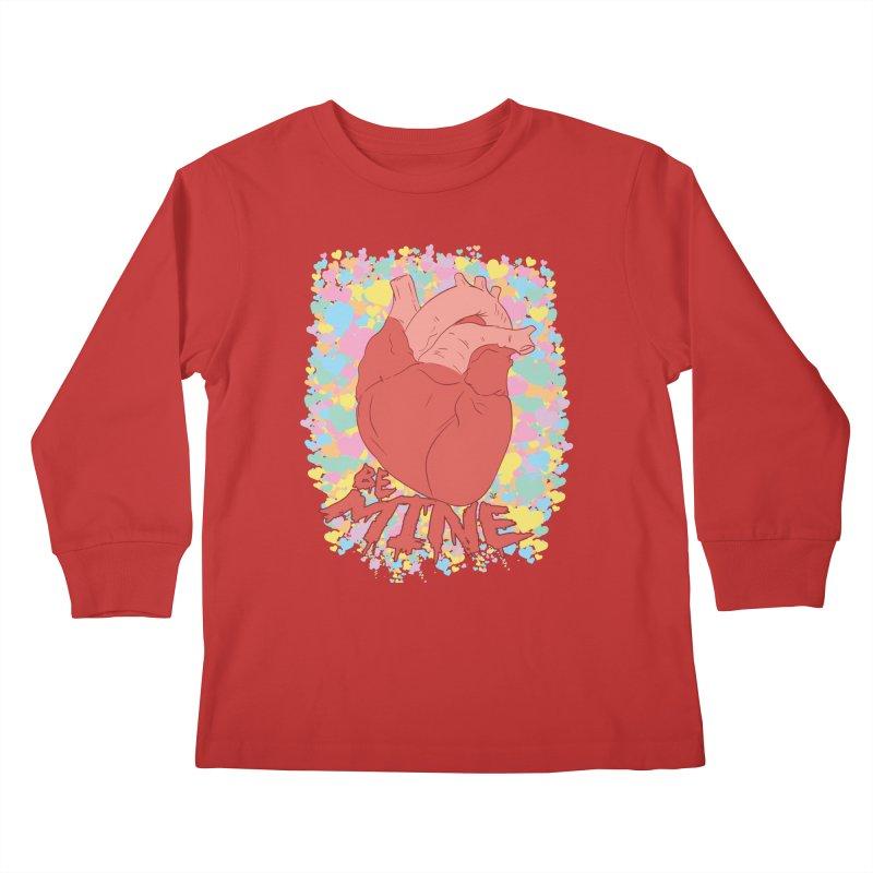Be Mine Kids Longsleeve T-Shirt by James Zintel