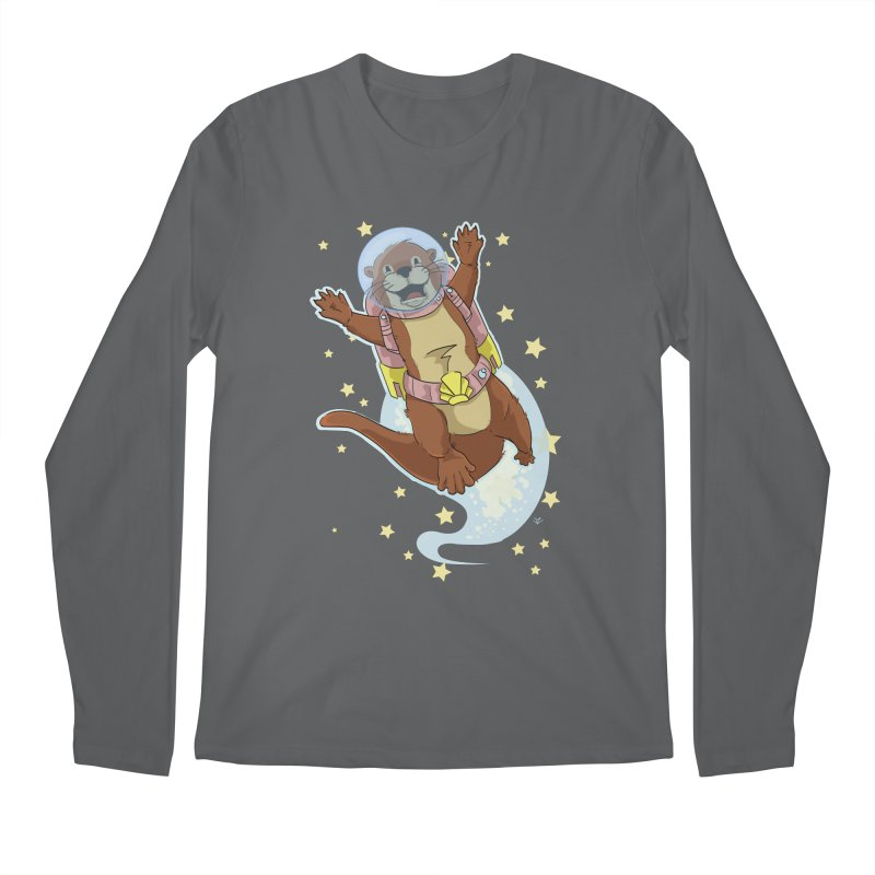 Otter Space 2.0 Men's Longsleeve T-Shirt by James Zintel