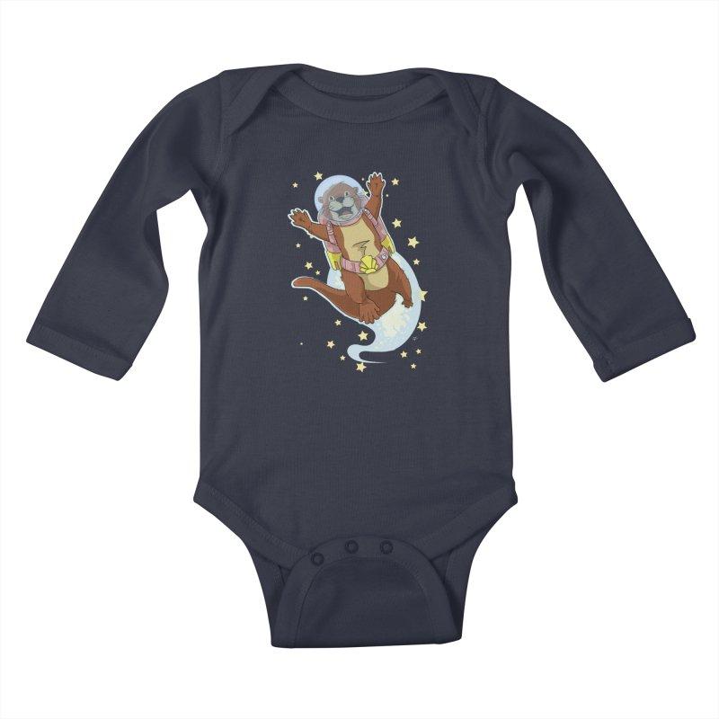 Otter Space 2.0 Kids Baby Longsleeve Bodysuit by James Zintel