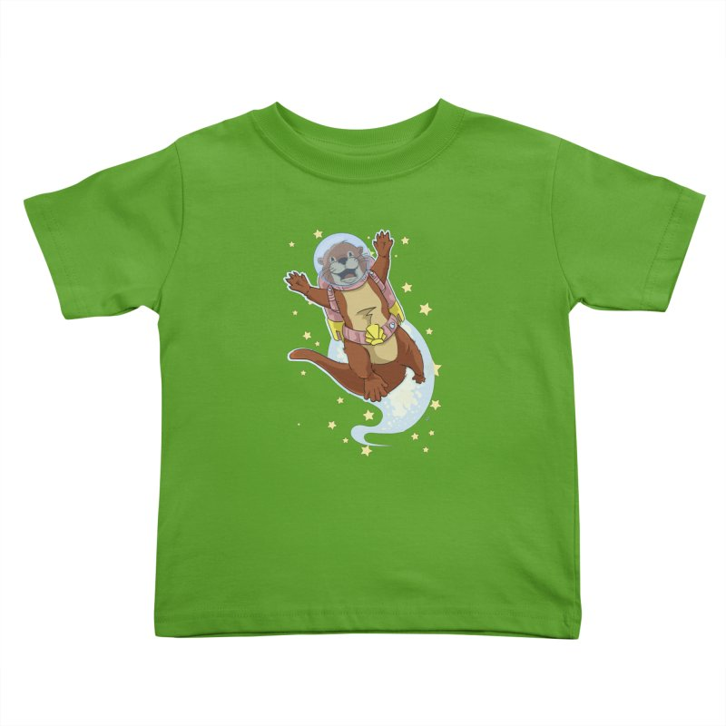 Otter Space 2.0 Kids Toddler T-Shirt by James Zintel