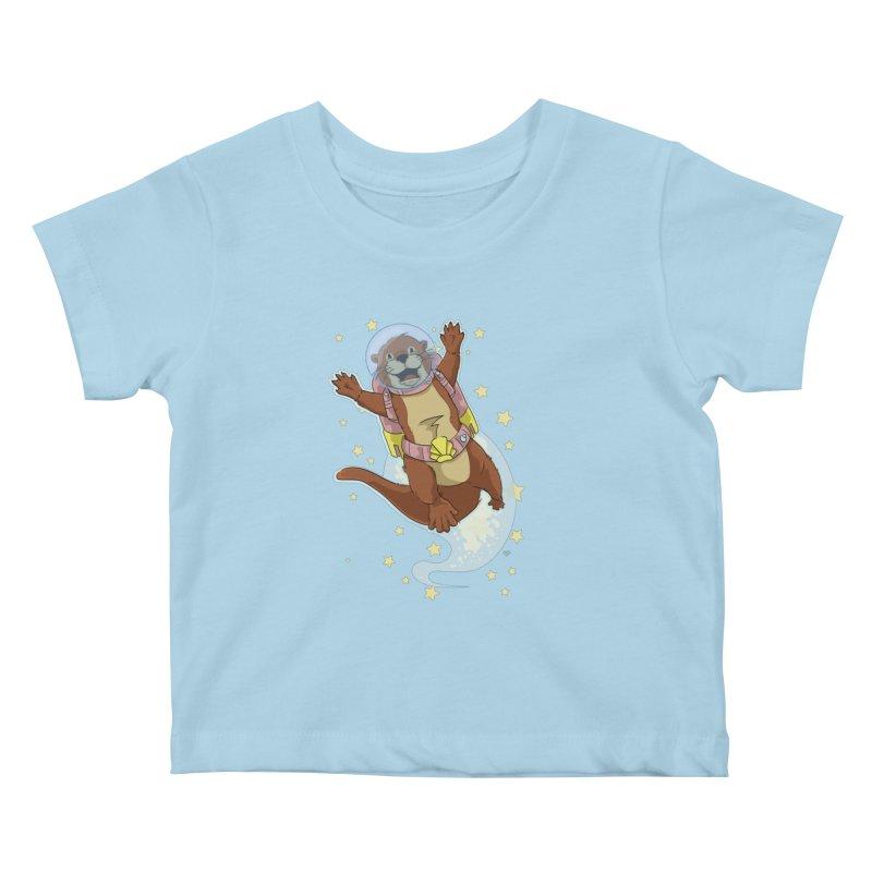 Otter Space 2.0 Kids Baby T-Shirt by James Zintel