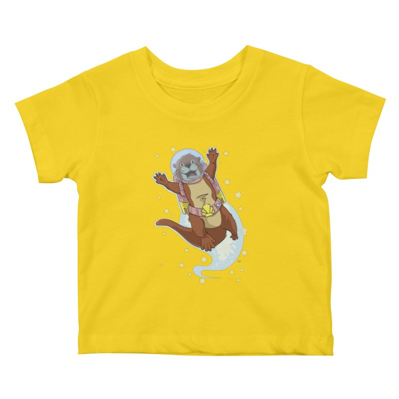 Otter Space 2.0 Kids Baby T-Shirt by James Zintel