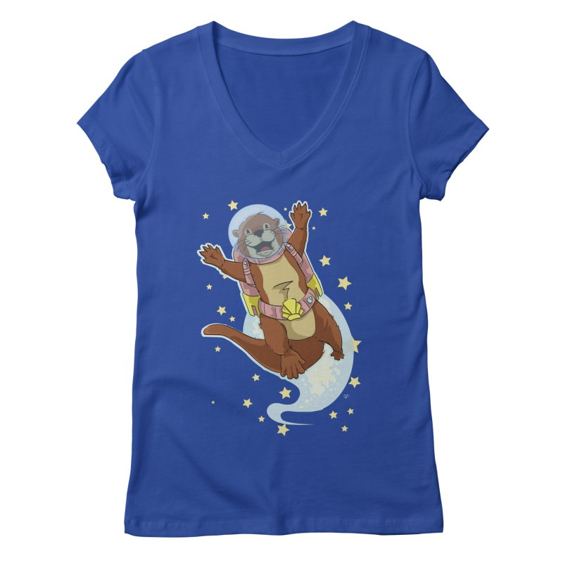 Otter Space 2.0 Women's V-Neck by James Zintel
