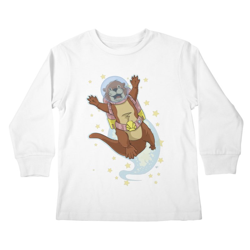 Otter Space 2.0 Kids Longsleeve T-Shirt by James Zintel