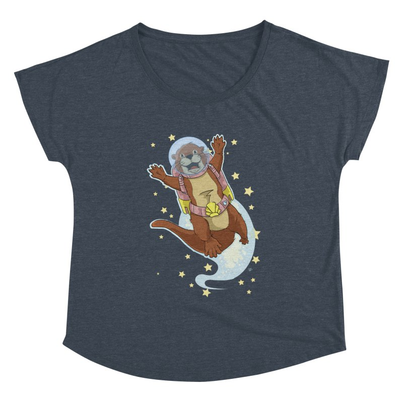 Otter Space 2.0 Women's Scoop Neck by James Zintel
