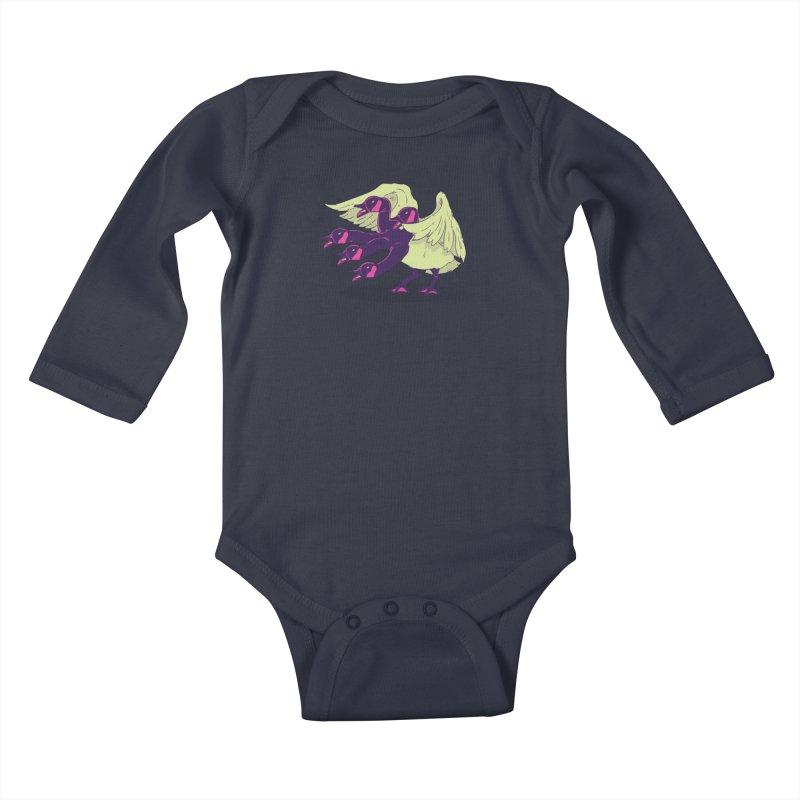 Goose Hydra Kids Baby Longsleeve Bodysuit by James Zintel