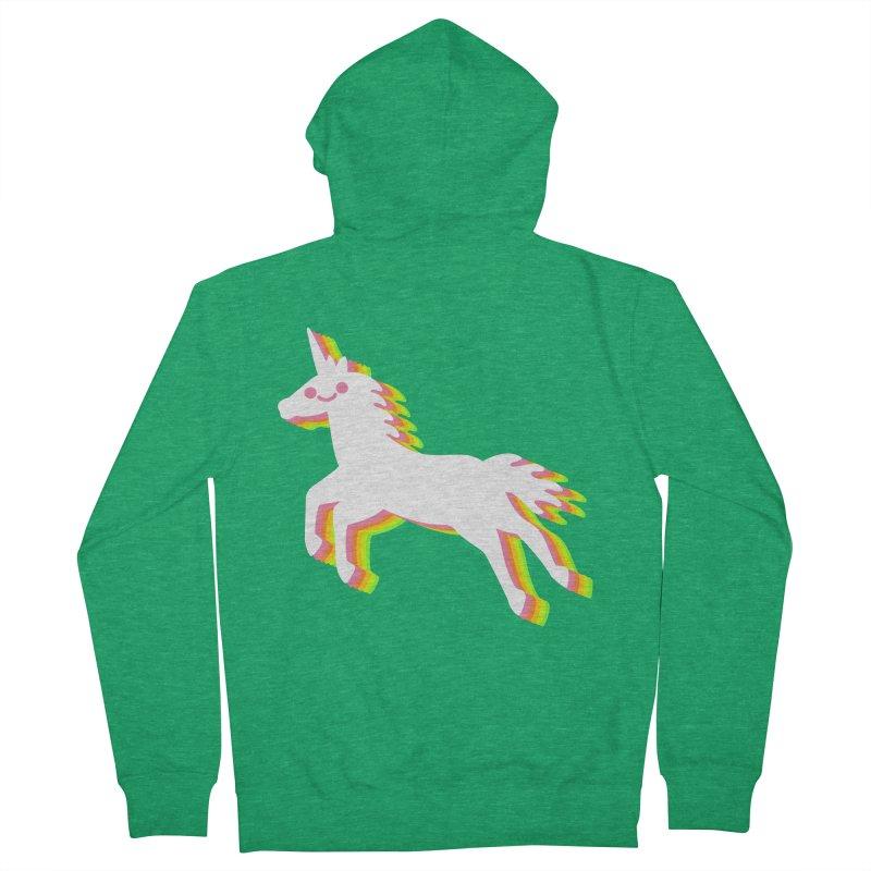 Derpy Unicorn Men's Zip-Up Hoody by JC Design