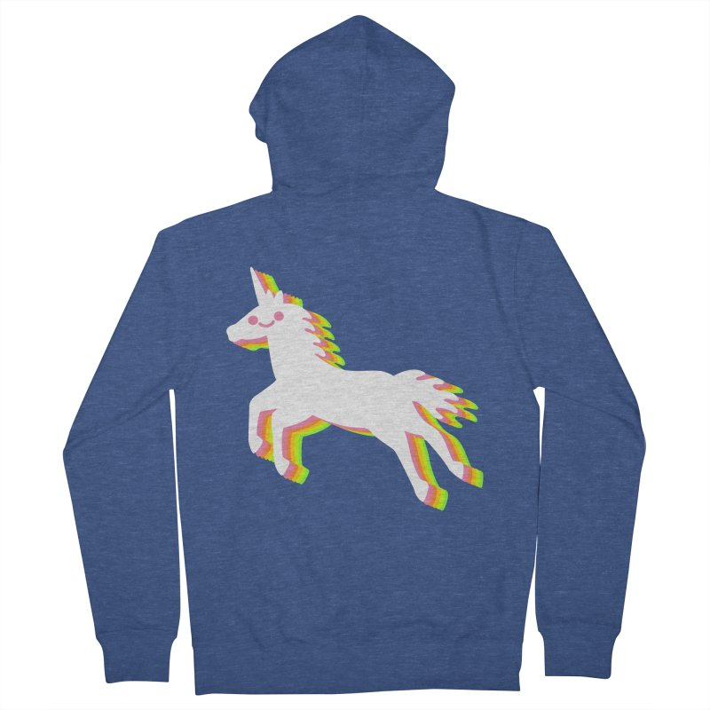Derpy Unicorn Men's Zip-Up Hoody by JC Design