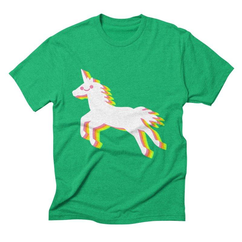 Derpy Unicorn Men's Triblend T-Shirt by JC Design